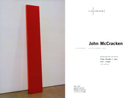 John McCracken announcement, 1995