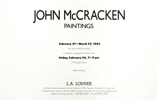 John McCracken announcement, 1993