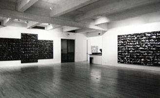 John Virtue installation photography, 1990