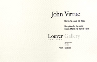 John Virtue announcement, 1990