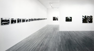 John Virtue installation photography, 1992