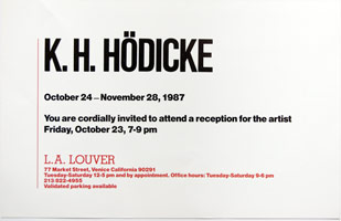 K.H. Hodicke announcement, 1987