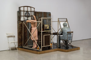Edward & Nancy Reddin Kienholz / Bout Round Eleven, 1982 / mixed media assemblage / 90 x 97 x 92 in. (228.6 246.4 x 233.7 cm)