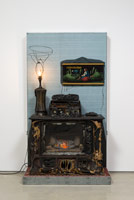 Nancy Reddin Kienholz / Home Sweet Home, 2006 / mixed media assemblage / 86 x 48 x 26 in. (218.4 x 121.9 x 66 cm)