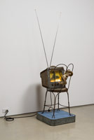 Edward & Nancy Reddin Kienholz / The Death Watch, 1976 / mixed media assemblage / 77 x 20 1/2 x 26 in. (195.6 x 52.1 x 66 cm)