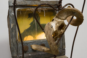 Edward & Nancy Reddin Kienholz / The Death Watch (detail), 1976 / mixed media assemblage / 77 x 20 1/2 x 26 in. (195.6 x 52.1 x 66 cm)