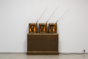 Edward & Nancy Reddin Kienholz / The Newses, 1993-94 / bronze / 75 x 65 x 14 in. (190.5 x 165.1 x 35.6 cm)