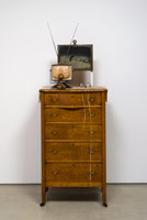 Edward & Nancy Reddin Kienholz / Useful Art No. 1 (chest of drawers & tv), 1992 / mixed media assemblage / 76 x 27 x 19 in. (193 x 68.6 x 48.3 cm)