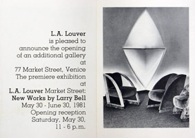Larry Bell announcement, 1981