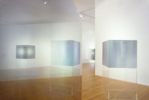 Larry Bell installation photography, 1985