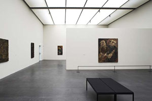 Installation photography, Leon Kossoff: Selected Paintings 1956 - 2000<br>Museum of Art Lucerne, 30 April – 24 July 2005