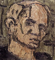 Leon Kossoff<br>Self Portrait, 1982<BR>
