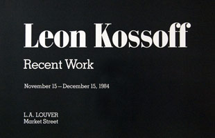 Leon Kossoff announcement, 1984