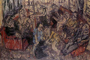Leon Kossoff<br>Family Party, January, 1983<BR>