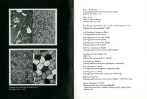 Marcel Duchamp, Jasper Johns announcement booklet, 1982