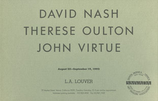 David Nash, Therese Oulton, John Virtue announcement, 1992