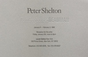 Peter Shelton announcement, 1990
