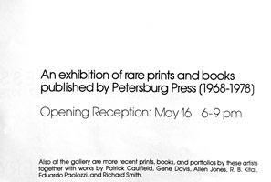 An exhibition of books, and rare prints 1968 - 78 announcement