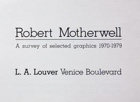 A survey of selected graphics: 1970 - 1979 announcement, 1981