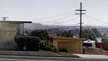 Sandra Mendelsohn Rubin<br> Grandview and Palms, 1989<br> oil on canvas<br> 48 x 84 in. (121.9 x 213.3 cm)<br> Private collection