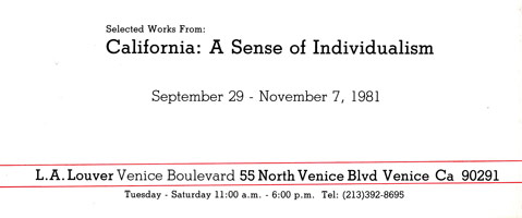 Selected works from California: A Sense of Individualism announcement, 1981