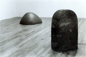 Jene Highstein installation photography, 1980
