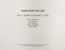 This Knot of Life announcement, 1979