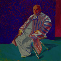 David Hockney<BR>Divine, 1979<BR>acrylic on canvas<BR>60 x 60 in (152.4 x 152.4 cm)