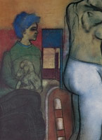 R.B. Kitaj<BR>Mother and Child, 1978<BR>pastel and charcoal on paper<br>30 1/4 x 22 in (76.8 x 55.9 cm)