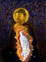 Kuan Yin Emanating from the Buddha, 1983<BR>