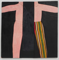 Betty, 1963<BR>cloth, polyester resin and enamel on plywood<BR>48 x 48 in (121.9 x 121.9 cm)<BR>Permanent collection, Long Beach Museum of Art