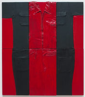 Tony Berlant<BR>Self Portrait #2, 1963<BR>cloth, polyester resin and enamel on plywood<BR>43 x 38 in (109.2 x 96.5 cm)
