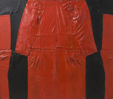 Self Portrait, 1963<BR>cloth, polyester resin and enamel on plywood<BR>43 x 49 1/2 in (109.2 x 125.7 cm)<BR>Permanent collection, Los Angeles County Museum of Art