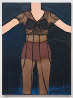 Tony Berlant<BR>Susan, 1964<BR>cloth, polyester resin, acrylic and enamel on plywood<BR>48 x 36 in (121.9 x 91.4 cm)