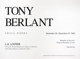 Tony Berlant announcement, 1993