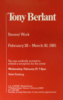 Tony Berlant announcement, 1985