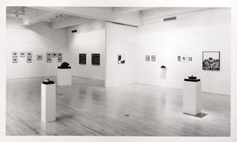 Wallace Berman installation photography, 1990