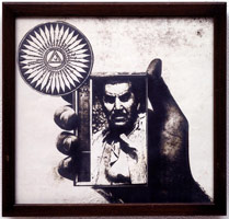 Untitled (R.E. Hand, Mexican Dictator), 1976<BR>positive image verifax collage<BR>7 x 7 1/2