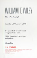 William T. Wiley announcement, 1987