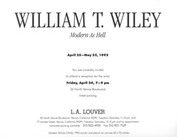 William T. Wiley announcement, 1992