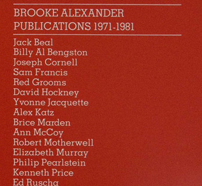 Brooke Alexander Publications 1971 - 81