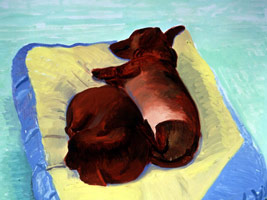 David Hockney: <br>Some Very Large New Paintings<BR>with Twenty-Five Dogs Upstairs<BR>and Some Drawings of Friends
