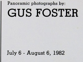 Gus Foster: Panoramic Photographs