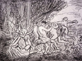 After Nicolas Poussin: New Etchings by Leon Kossoff