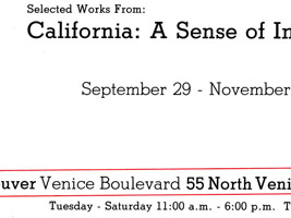 Selected works from California: A Sense of Individualism