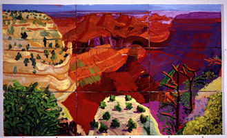 9 Canvas Study of the Grand Canyon, 1998<BR>