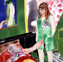 R.B. Kitaj<br>Los Angeles No. 18, 2002<BR>