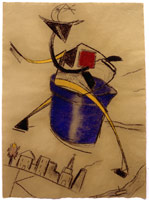 R.B. Kitaj<br>Bucket Rider, 2002 – 2003