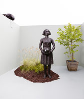 Alison Saar / Summer, 2011 / cast bronze / 96 x 28 x 30 in. (243.8 x 71.1 x 76.2 cm)