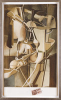 Marcel Duchamp / Mariée [The Bride], October 1937 Pochoir colored collotype / Paper Dimensions: 13 3/8 x 7 7/8 in. (34 x 20 cm) / Framed Dimensions: 19 7/8 x 14 1/7 x 1 in. (50.5 x 35.9 x 2.5 cm)
